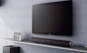 Sony soundbar bij televisie