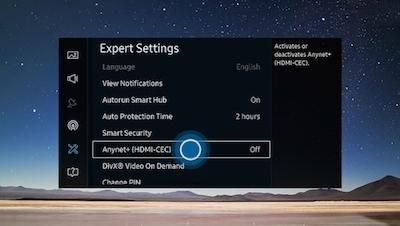 HDMI CEC instellingen Samsung tv